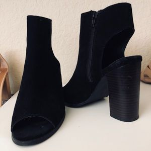 Black urban outfitters booties